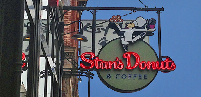 Stan's Donuts & Coffee sign
