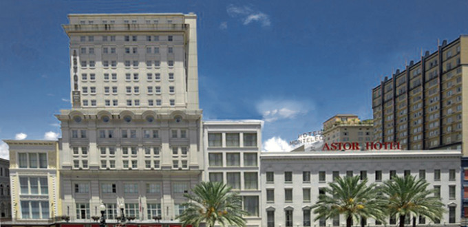 exterior photograph of the Crowne Plaza, Canal Street, New Orleans