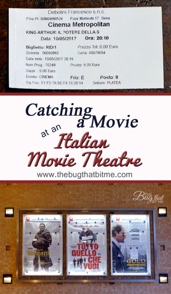 Going to an Italian Movie Theatre | The Bug That Bit Me